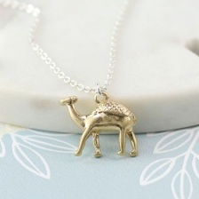 Golden Camel Necklace by Peace of Mind